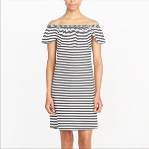J. Crew Factory Striped Off the Shoulder Dress NWT